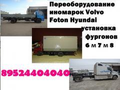 Бортовые платформы Man Hyundai Isuzu еврокузова купить фургон