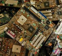 Electronic scrap reception