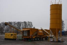 Мобильный бетонный завод Sumab LT 1800 (60 м3/час) Швеция